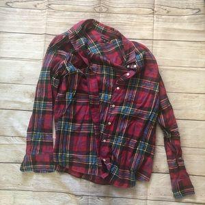 J. Crew Mercantile Light Flannel Berry Shirt